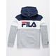FILA Color Blocked Gray & Navy Boys Hoodie