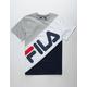 FILA Banner Striped Gray & Navy Boys T-Shirt