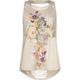 FULL TILT Floral Cross Girls Slash Back Top