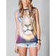 WORKSHOP Spacey Lion Womens Muscle Tee