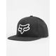 FOX Instill Black Mens Snapback Hat