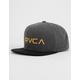 RVCA Twill III Washed Black Boys Snapback Hat