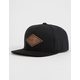 RVCA Woods Black Boys Snapback Hat