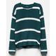 WHITE FAWN Stripe Hunter Girls Chenille Sweater