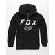 FOX Legacy Moth Black Boys Zip Hoodie