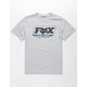 FOX Throwback Heather Gray Boys T-Shirt