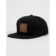 RVCA Mills Black Mens Snapback Hat
