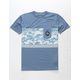 QUIKSILVER See You Blue Boys Pocket Tee
