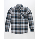VOLCOM Caden Pewter Boys Flannel Shirt