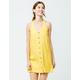 RVCA 90s Baby Mustard Halter Dress