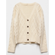 WHITE FAWN Cable Knit Girls Cardigan