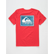 QUIKSILVER Time Warp Red Boys T-Shirt