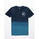 QUIKSILVER Captain Dip Dye Navy Boys T-Shirt