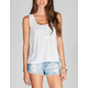 FULL TILT Womens Lace Back Hi Low Henley