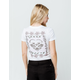 VOLCOM Side Stage White Womens Ringer Tee