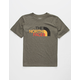 THE NORTH FACE Triblend Half Dome Heather Green Boys T-Shirt