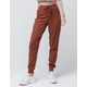SKY AND SPARROW Solid Burnt Orange Womens Jogger Pants