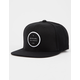 RIP CURL Valley Badge Black Mens Snapback Hat