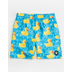 NEFF Ducky Teal Blue Boys Hot Tub Volley Shorts