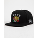 RIOT SOCIETY Tiger Rose Black Mens Snapback Hat