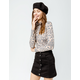 ALMOST FAMOUS Button Front High Rise Black Denim Skirt