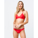 HURLEY Quick Dry Speed Red Hipster Bikini Bottoms