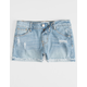 RSQ Malibu Cuff Medium Wash Girls Ripped Denim Shorts