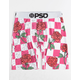 PSD Red Rose Checker Mens Boxer Briefs