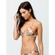 ROXY Printed Strappy Love Reversible Triangle Bikini Top