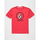 VOLCOM Crisp Stone Red Boys T-Shirt