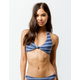 FULL TILT Knot Halter Faded Navy Bikini Top
