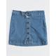 INDIGO REIN Button Front Stretch Girls Denim Skirt