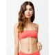 RHYTHM Islander Bandeau Coral Bikini Top