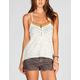FULL TILT Ethnic Trim Womens Crochet Tank