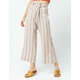SKY AND SPARROW Paperbag Tie Waist Crop Womens Wide Leg Pants