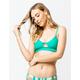 RAISINS Samba Solids Green Bikini Top