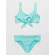 DAMSEL Scoop Bralette Knot Front Turquoise Girls Bikini Set