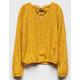 WHTIE FAWN Floral Crisscross Mustard Girls Top