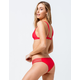 FULL TILT Cage Strap Red Cheeky Bikini Bottoms