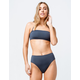 O'NEILL Salt Water Solid Blue High Waisted Bikini Bottoms