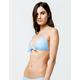 FULL TILT Tie Front Push Up Baby Blue Bikini Top