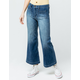 SKY AND SPARROW Wide Leg Womens Crop Jeans