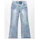 SCISSOR Crop Light Wash Girls Flare Jeans