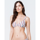 FULL TILT Textured Stripe Bralette Bikini Top