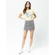 SKY AND SPARROW Stripe Mini Skirt