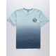 VOLCOM Disestablished Dip Dye Blue Gradient Boys T-Shirt