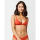 FULL TILT Fixed Triangle Burnt Red Bikini Top