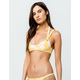 FULL TILT Reversible Bralette Yellow Bikini Top