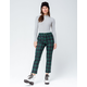 SKY AND SPARROW Crop Plaid Womens Pants
