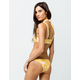 FULL TILT Thin Strap Reversible Yellow Cheeky Bikini Bottoms